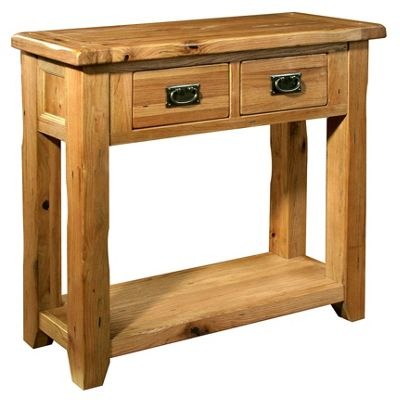 Kelburn Furniture Bordeaux Small Console Table in Medium Oak Stain and Satin Lacquer