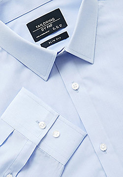 F&F Easy Care Slim Fit Shirt - Blue