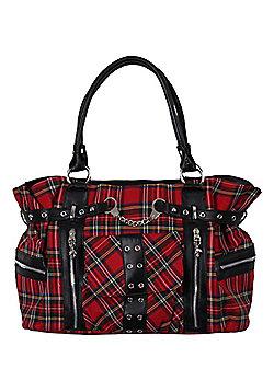 Banned Tartan Handcuff Handbag