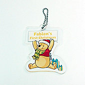 Winne the Pooh (My First Christmas) Personalised Christmas Tree Decoration Winnie the Pooh