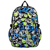 Chok Blue & Green Skull Backpack