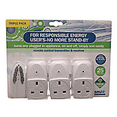 SMJ Electrical Remote Socket Triple Pack