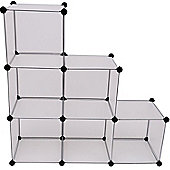 Homcom Interlocking 6 Compartments Storage Shoe Rack Display Stand
