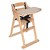Safetots Putaway Wooden Highchair Natural
