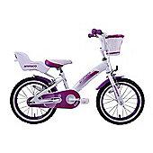 """Ammaco Cutie 16"""" Wheel Girls Bike Purple"""