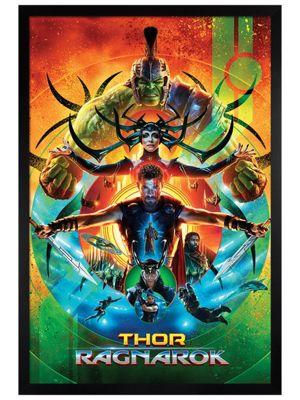 Thor Ragnarok Black Wooden Framed Poster 61 x 91.5cm