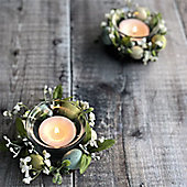 Set of Two Country Meadow Easter Tea Light Holders