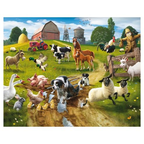 Farmyard Fun Wallpaper Mural 8ft x 10ft