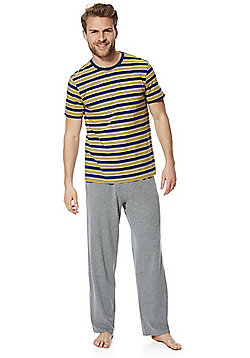F&F Striped T-Shirt Loungewear Set - Blue