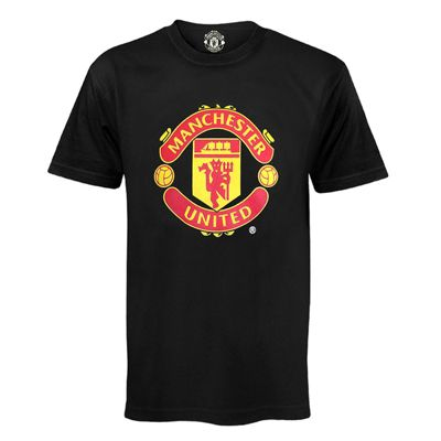 Manchester United FC Mens T-Shirt Black Small