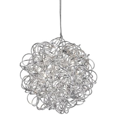 SCRIBBLE - 6 LIGHT PENDANT DIAMOND CUT TANGLED ALUMINUM