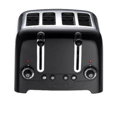 Dualit 46205 4 Slot High Gloss Lite Toaster - Black