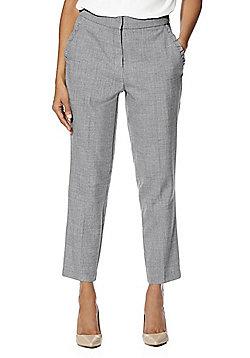 F&F Frill Trim Pocket Slim Leg Trousers - Grey