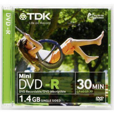 TDK 1.4 GB 8 cm 1-2x 30 min DVD-R Jewel Case 5 Pack