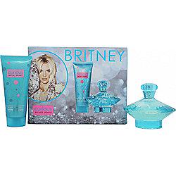 Britney Spears Curious Gift Set 100ml EDP Spray + 100ml Body Souffle For Women