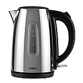 Tower Polished Stainless Steel Jug Kettle - Chrome