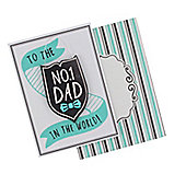 No1 Dad Keepsake Card