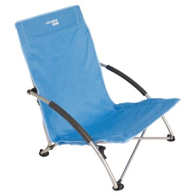 Yellowstone Low Profile Folding Camping Chair, Blue