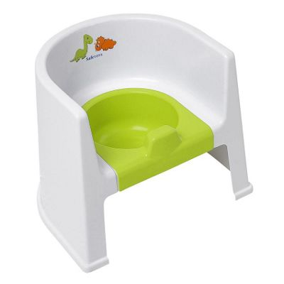 Safetots Dinosaur Potty Chair White with Lime Removable Pot