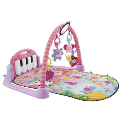 Fisher-Price Kick & Play Piano Baby Gym, Pink