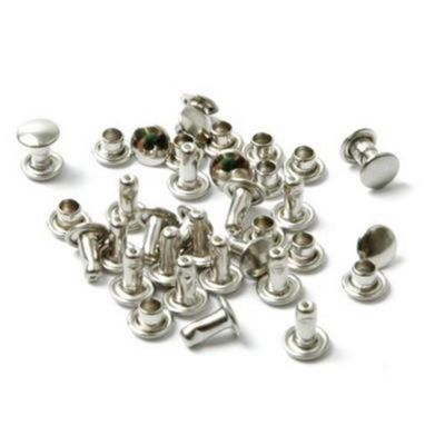Tubular Rivets 7mm Nickel Plated Pack of 60