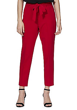F&F Tie Waist Tapered Trousers - Red