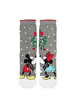 Disney Minnie and Mickey Mouse Mistletoe Ankle Socks - Multi