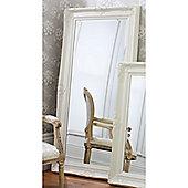 "Gallery Direct Harrow Leaner Mirror Cream 67.5x33.5"""