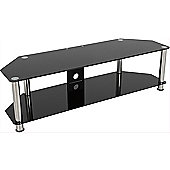 AVF Universal Black Glass and Chrome Legs TV Stand For up to 65 inch TVs