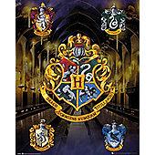 Harry Potter House Crests Mini Poster 40x50cm