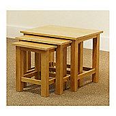 London Oak Nest of Tables -Light Oak Finish