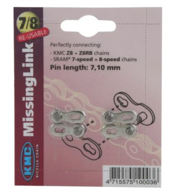 KMC 7/8 Speed Chain Link - Blister Card Pair