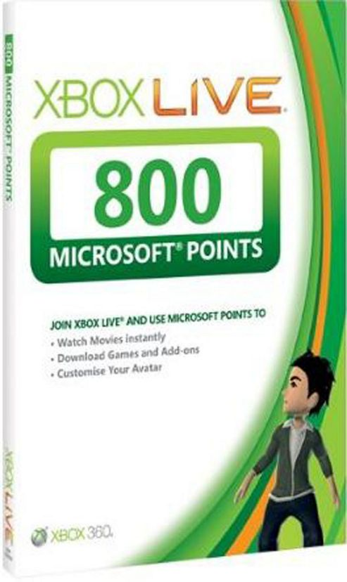 Xbox Live - 800 Points Card