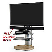 Origin II S4 Cantilever TV Stand In Light Wood - With Free Soundbar Bracket