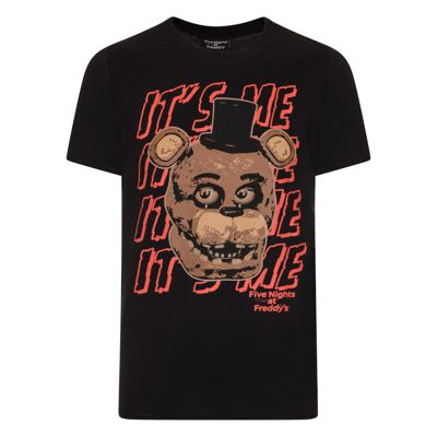 Five Nights At Freddy's Mens Text T-Shirt Small