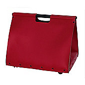 Large Leather Firewood Log Holder in Red