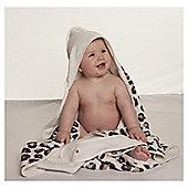 Cuddledry Baby Apron Bath Towel - Snow Leopard