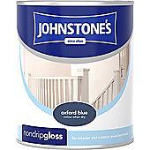 Johnstone's 303892 Non-Drip Gloss Paint - Oxford Blue 0.75 litre