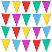 Fun Machine Multi Coloured Flag Bunting - 4m