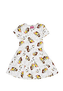 Disney Princess Beauty and the Beast Jersey Dress - White