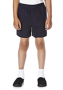F&F School 2 Pack of Boys Sports Shorts - Navy