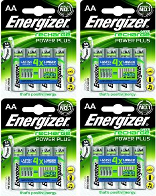 16 x Energizer AA Rechargeable Batteries 2000 mAh Nimh