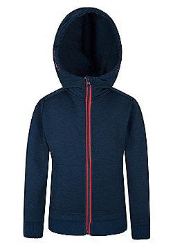 Mountain Warehouse Girls 100% Polyester Space Dye Kids Hoodie w/ Adjystable Hood - Blue