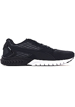 Puma Ignite Dual Mesh Mens Running Fitness Trainer Shoe Black/White - Black