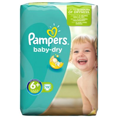 Pampers Baby Dry Size 6+ (Extra Large+) Carry Pack 19 Nappies