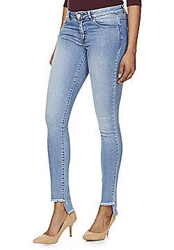 Vila Commit Step Hem Super Slim Jeans - Light wash