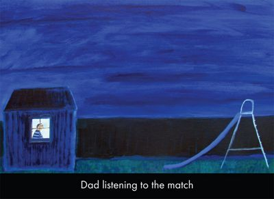 Holy Mackerel Dad Listening To The Match Greetings Card