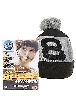 Guy Martin Complete Speed DVD & Free Ltd Edition 1277c No: 8 Bobble Hat Beanie