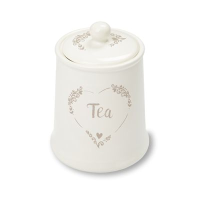Cooksmart Food for Thought Ceramic Tea Canister