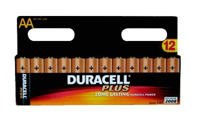 Duracell Plus Long Life AA Alkaline Batteries 8 Pack
